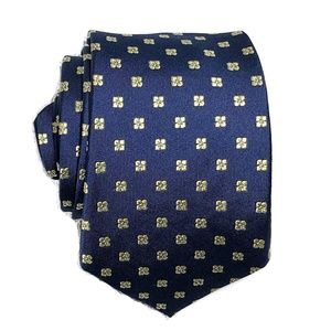 T.M. Lewin All Silk Tie Hand Made Geometric Print
